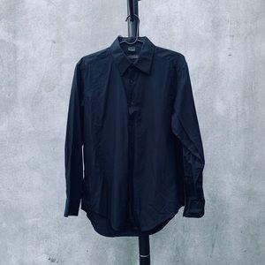 DKNY Black Slim Fit Dress Shirt